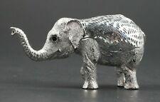 Signed CHRISTOFLE Lumiere Silverplate Elephant Animal Sculpture Baby Elephant