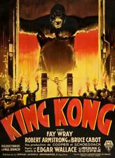 """KING KONG Vintage movie poster fay wray #2 A4 CANVAS PRINT 8""""X 12"""""""