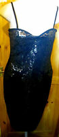 LIPSY BLACK/GOLD STRETCH SEXY STRAPPY SHIFT DRESS SIZE 16 BNWT RRP £55.00