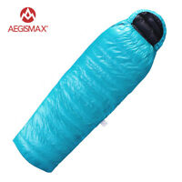 AEGISMAX Ultralight 95% White Goose Down Mummy Sleeping Bag Camping Hiking EPLUS