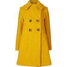 ORLA KIELY Yellow Textured Wool Harriette Coat Jacket Uk 12| Bag Dress Shirt