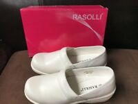 Rasolli Womens Perforated Slip On Clogs Mules