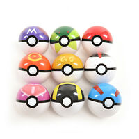 9 Pokemon Pokeball-Up 7Cm Cartoon Toy Balle En Plastique Monstre PikaTRFR