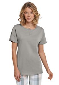 SCHIESSER Damen Mix & Relax Shirt 100%Baumwolle T-Shirt 36-48 S-4XL Schlafshirt