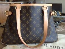 Authentic LOUIS VUITTON Monogram BATIGNOLLES HORIZONTAL Shoulder Tote Bag