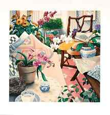 """Susan Rios - """"The Orchid"""", hand-signed serigraph on paper"""