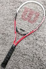 Wilson Tennis Racket Impact Volcanic Frame Titanium Power Bridge Red L2 4 1/2