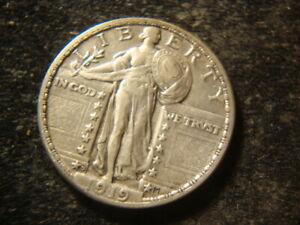 1919-D XF Full Date Full Shield Standing Liberty Quarter KKA
