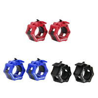 2Pcs 25mm Lock Jaw Collars Perfectly Barbells Muscle Clamps Bar Weights Lifting