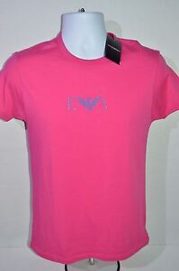 EMPORIO ARMANI Man's Crew Neck EVA Logo T-shirt NEW  Size Medium Retail $89