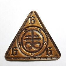 leviathan cross gold antique triangle  GENUINE LEATHER  PATCH