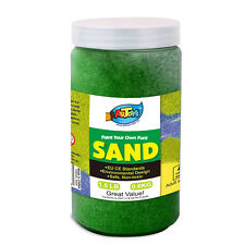 Green Colour Art Sand 600g Bottle Great for School & Home & Party Craft Sand Art