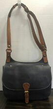 New ListingPatricia Nash Heritage London Smooth Leather Crossbody Saddle Bag Navy Mrsp $229