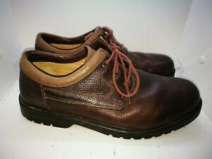 Clarks brown leather shoes uk 11 wide fit