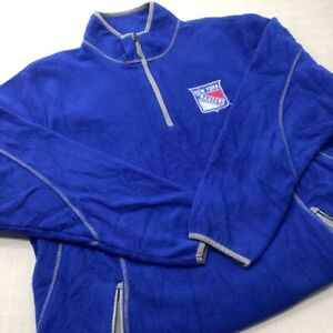 Sudadera De Equipo New York Rangers Suera De Felpa Con Cremallera 1/4 Talla XL