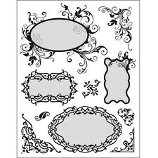Tampons transparents Viva CADRES et COINS scrapbooking carterie clear stamps