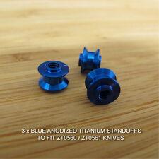 Zero Tolerance ZT0560 ZT 560 561 Knife BLUE Anodized Titanium Ti Standoffs Set