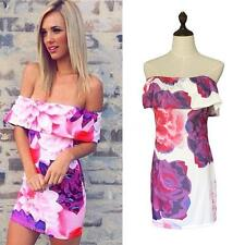 Unbranded Boat Neck Floral Regular Size Dresses for Women