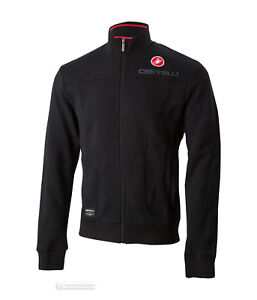 Castelli MILANO TRACK JACKET Casual Fleece Jacket : BLACK