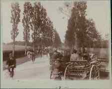 France, La Course Paris-Madrid 1903  Vintage citrate print.  Tirage citrate