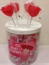 100 Rojo Corazón en forma de piruletas de San Valentín Boda Favores