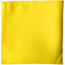 New men's polyester solid yellow hankie pocket square formal wedding party prom