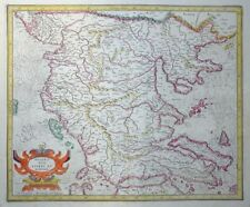 MERCATOR HONDIUS MAZEDONIEN MACEDONIA EPIRUS ET ACHAIA BALKAN GRIECHENLAND 1606