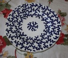 Rare Antique 1850s Early Royal Worcester/Kerr Binns Plate Cobalt Blue Pattern