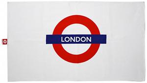 "London Underground Cotton Tea Towel with ""london"" Logo 740mm x 430mm (gwc)"