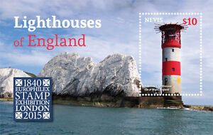 Nevis - 2015 Lighthouses of England Souvenir Sheet - MNH