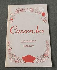 Casseroles Home Service Department Rochester Gas & Electric Community Cookbook