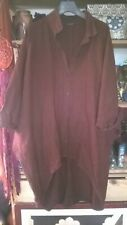 Sarah Santos Lagenlook heavy linen shirt ARTY/LAGENLOOK/BOHO