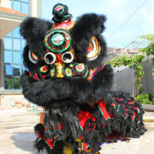 2017Dance mascot Costume wool Southern Black Lion Chinese Folk art For two adult