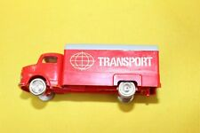 """LEGO Red  Mercedes truck and trailer 652 with transport  sticker """"Abziehbild """""""