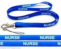 Nurse quality satin lanyard, neck strap - ideal for mobile, id, keys, mp3