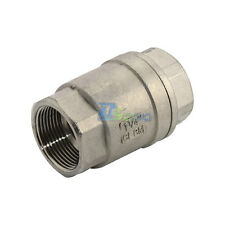 """1-1/4"""" Check Valve WOG 1000 Spring Loaded In-line Stainless Steel SS316 CF8M NPT"""