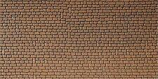 (1m² = 50,88 €) FALLER 170611 mur plaque grès-rouge-, 250 x 125 mm, en carton