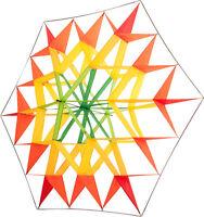 Kastendrachen Stern gelb Drachen Einleinerdrachen Sterndrachen Facetten Kasten