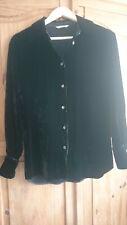 beautiful ladies black velvet shirt blouse by Marks & Spencer size 8