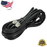 Red 1.5M 5ft Telephone Handset Receiver Cord Phone Curly Coil Cable 4P4C RJ22
