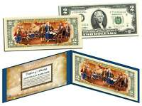 TWO DOLLAR $2 U.S. Bill Genuine Legal Tender Currency COLORIZED * REVERSE * SIDE