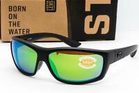 Costa Del Mar Saltbreak Sunglasses Blackout / Green Mirror 580P Polarized lens