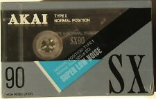 TRIPLE PACK... AKAI SX90 BLANK AUDIO CASSETTES - BRAND NEW AND SEALED