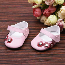 "New Reborn Baby Dolls Shoes Pink with Bow Fits 18"" Doll Clothes"