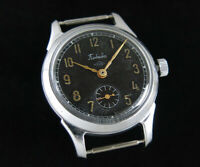 ✯Vintage  Early POBEDA PCHZ Soviet Men's Mechanical watch guilloche dial 1950s✯