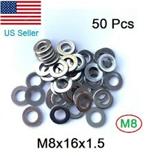 M8 Flat Washer 8mm Metric Stainless Steel Flat Washers (pack of 50)