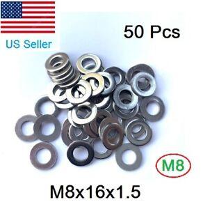 Black Oxide Finish 30 Set M10 Steel Split Washer Lock Washer Spring Washer Ring and Flat Washer 0.1 and 0.078 Thick