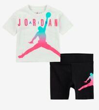 Nike Air Jordan Girls 2 PC Set Shirt & Shorts Outfit Size 6X