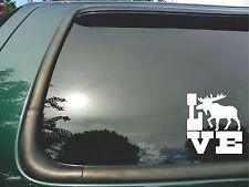 Love Moose- Die Cut Vinyl Window Decal/sticker Car/Truck/Laptop 10-776