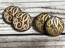 "2"" Wood Dangle Earrings (monogram Blanks) 5 Pair"